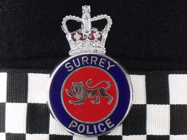 Surrey Police Constable/Sergeant Hat with enamel cap badge