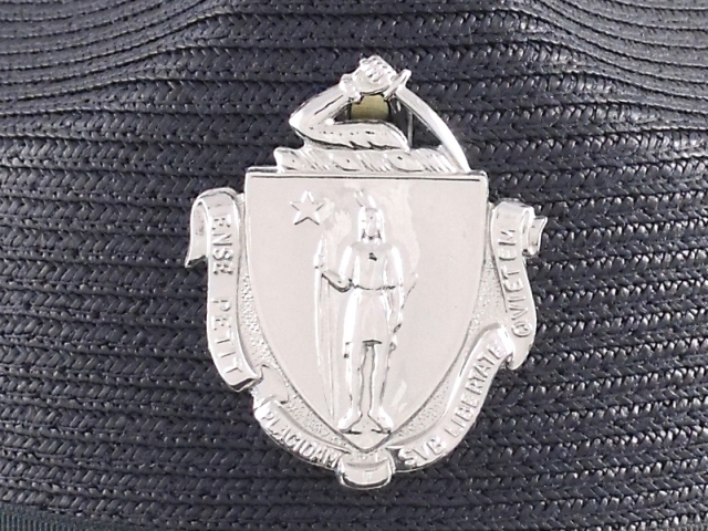Massachusetts State Police hat badge