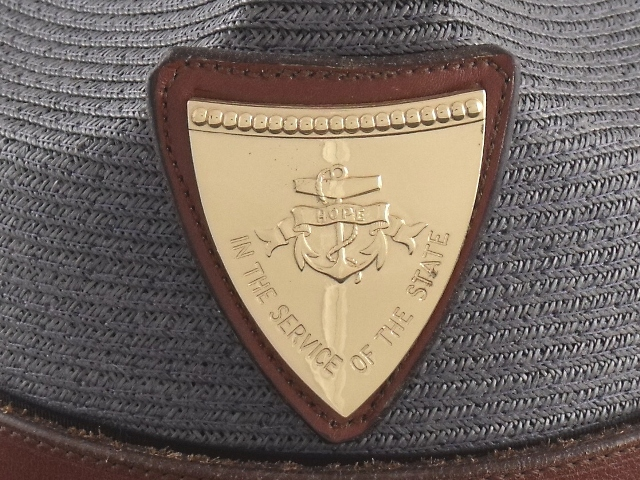 Rhode Island State Police hat badge