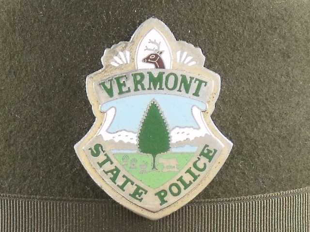 Vermont State Police hat badge