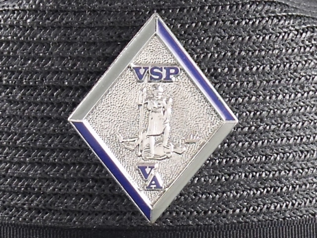 Virginia State Police hat badge